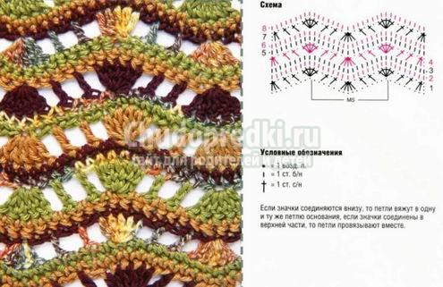 Туника крючком: схемы и описание