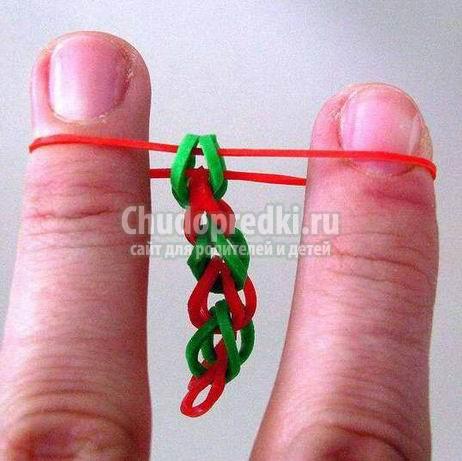 Способы плетения браслетов из резинок без станка