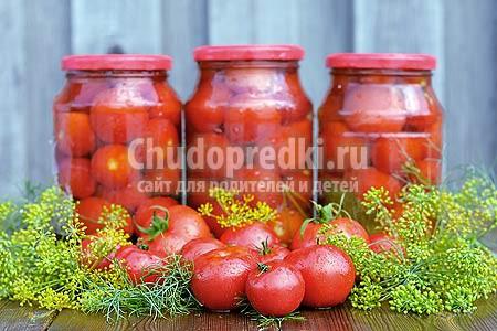Заготовки на зиму из помидор: рецепты с фото
