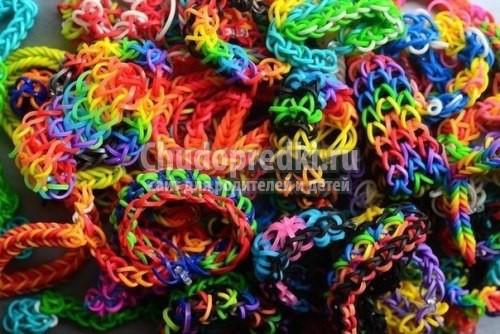 Плетение браслетов на вилке