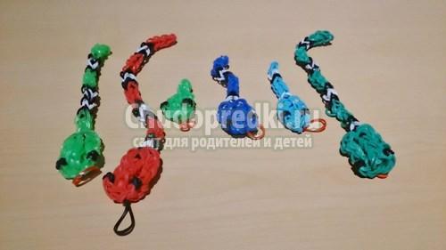 Фигурки животных из резинок