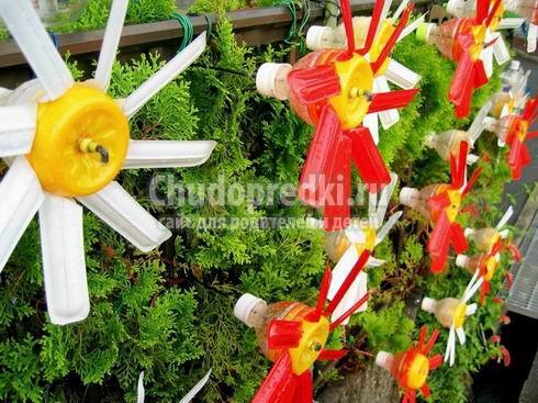 Поделки для сада, огорода из пластиковых бутылок. Лучшие идеи для вашего участка!