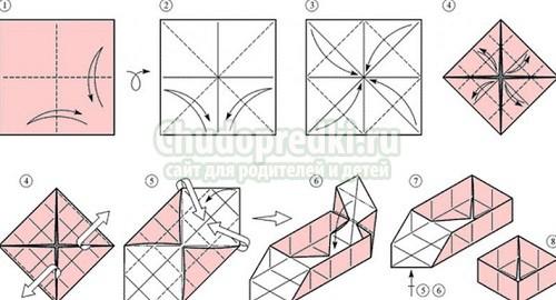 Коробочки с крышкой своими руками оригами