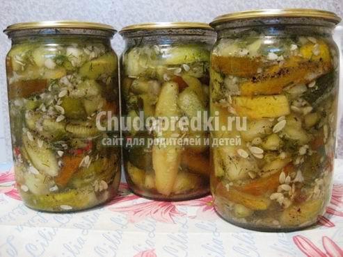 Салат из переросших огурцов на зиму. Самые популярные рецепты