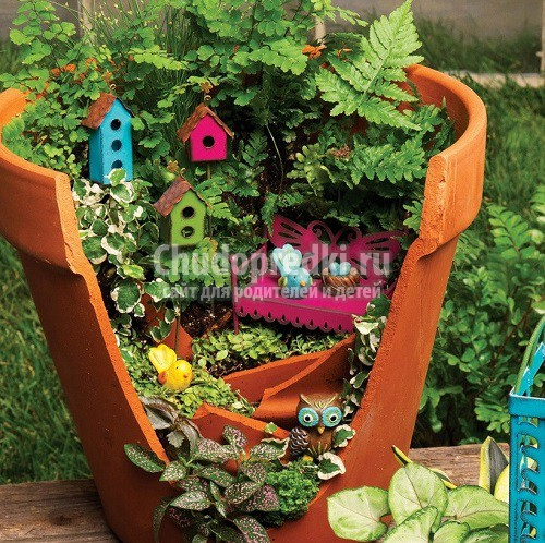 Сад своими руками из подручных материалов: дизайн и украшения