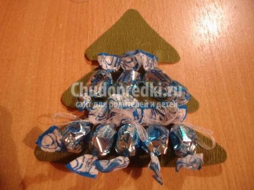 Елочка из конфет: идеи и мастер-классы