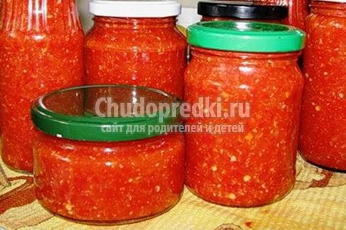 Хрен с помидорами и чесноком: популярные рецепты с фото