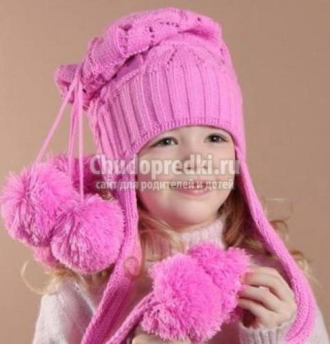 зимние шапки для девочек вяжем своими руками