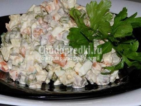 салат оливье с фотографиями