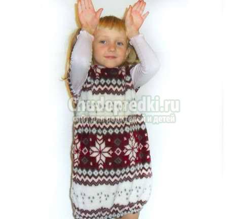 Зимние платья. Как связать и сшить своими руками?