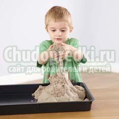 Кинетический песок – современное развлечение для ребятишек