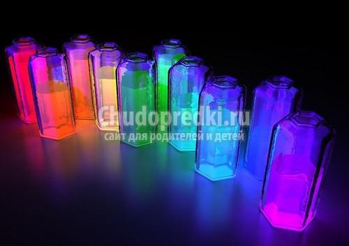 Как сделать светящуюся жидкость самому?