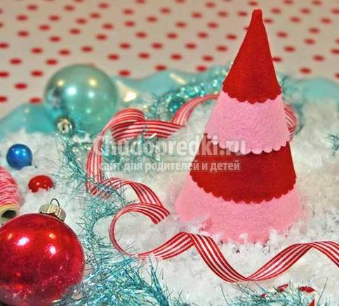 Поделки из фетра на Новый год. Лучшие идеи с фото