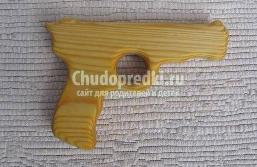 Как сделать пистолет из дерева