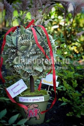 Денежное дерево своими руками: фото, идеи и мастер-классы