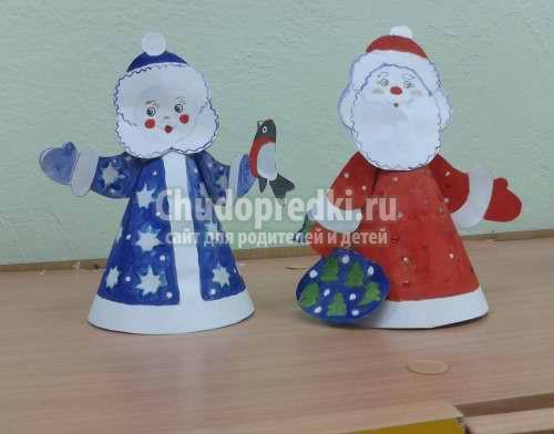 Дед Мороз и Снегурочка из бумаги: фото, идеи и мастер-классы