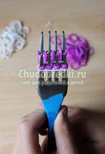 Rainbow loom. Плетение из резиночек на вилках: лучшие фото и видео мастер-классы