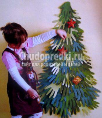 Большая елка своими руками