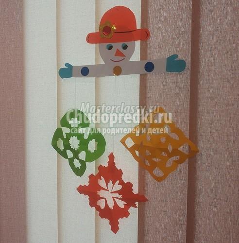 Снеговик из бумаги. Лучшие идеи поделок