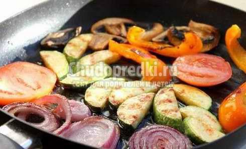 Овощи на сковороде. Пошаговые рецепты с фото