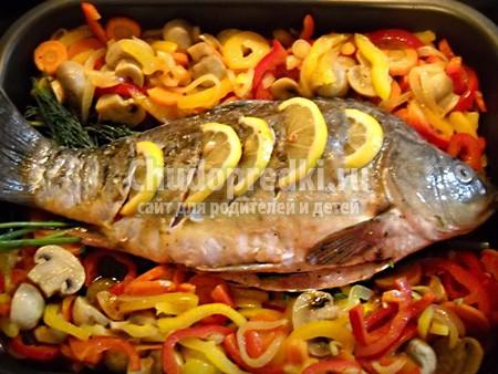 Рыба с овощами - полезно и вкусно