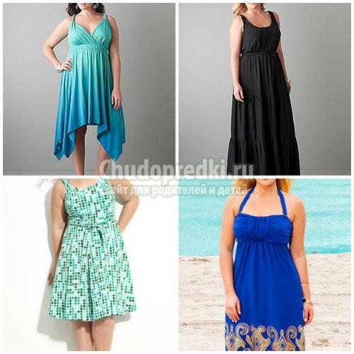 Летние платья 2016 фото для полных: сексуальные и легкие