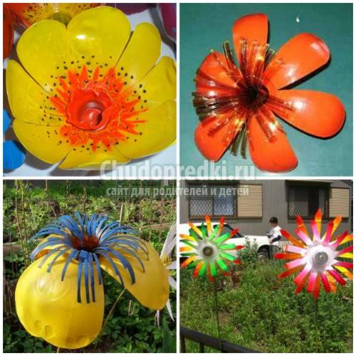 Цветы из пластиковой бутылки. Лучшие идеи, фото и мастер-классы