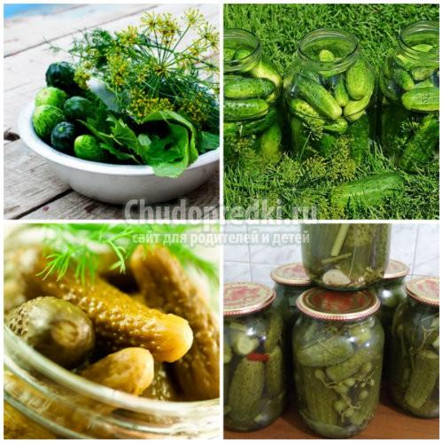 Вкусные рецепты огурцов банке на зиму с подробными фото