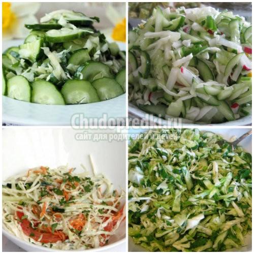 Салат из свежих огурцов. Лучшие рецепты с фото
