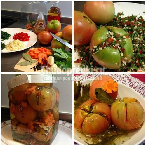 Фаршированные помидоры на зиму. Золотые рецепты с фото