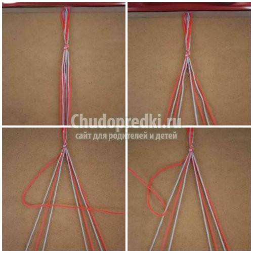 Браслеты из ниток: плетем вместе. Схемы и мастер-классы