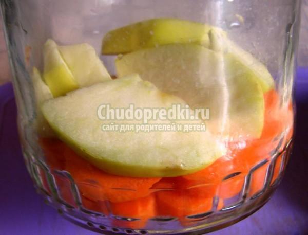 Морковь с яблоками консервированная