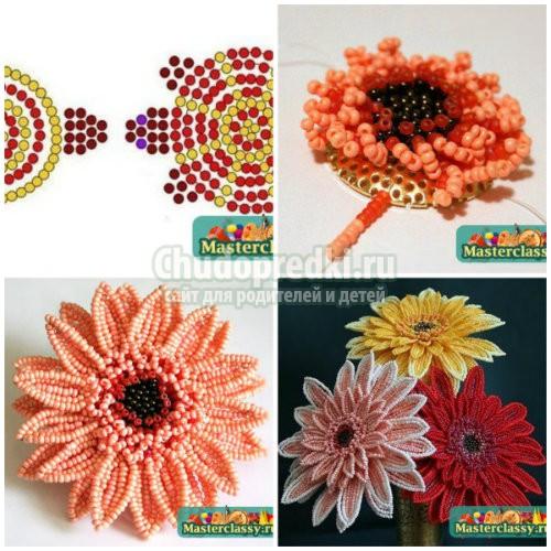 Схемы цветов своими руками: фото и мастер-классы