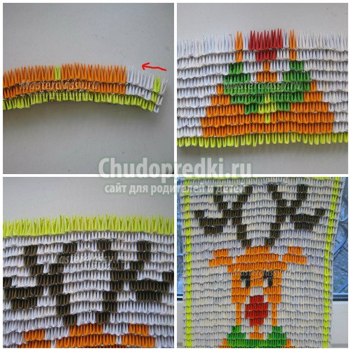 Сборка модульного оригами. Лучшие зимние идеи для детей