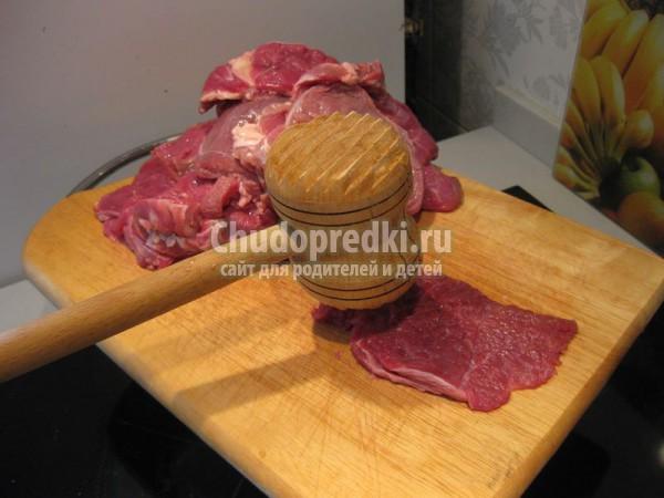 Мясные отбивные из говядины в духовке