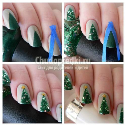 Пошаговые рисунки на ногтях. Лучшие идеи для встречи Нового года