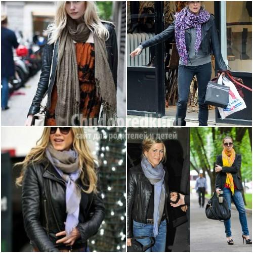 Как правильно, модно и красиво завязывать палантин: 40 идей и фото