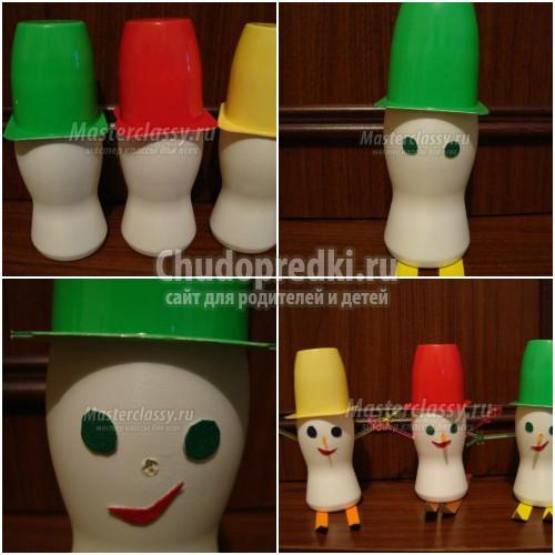 Делаем снеговика из пластиковых стаканчиков. Идеи для Нового года