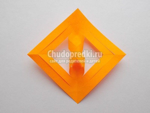 3D осенний лист из бумаги
