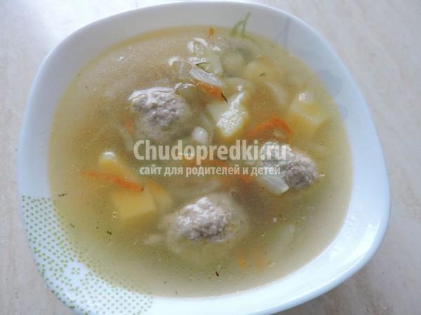 Суп с фрикадельками на скорую руку