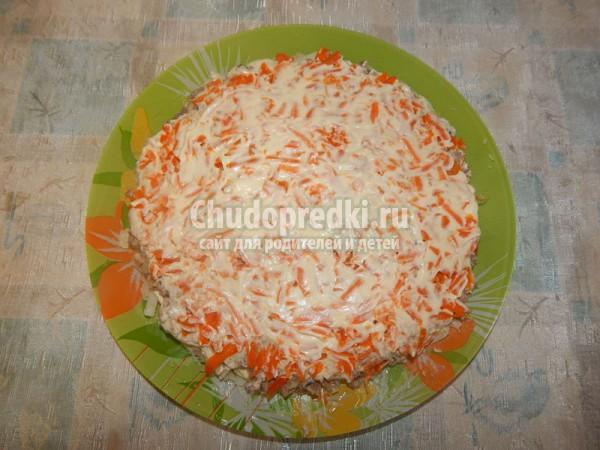 Салат Мимоза под снегом