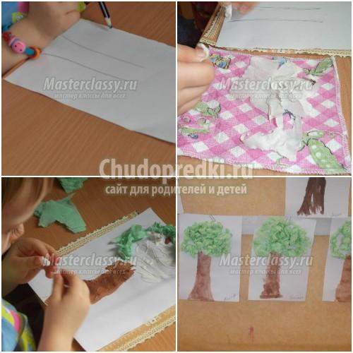 Аппликация «дерево»: шаблоны, фото и идеи