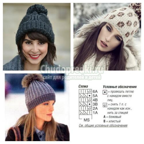 Как связать зимнюю шапку? Самые простые мастер-классы с фото