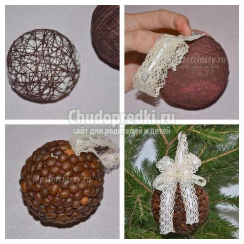Как сделать новогодний шар? 10 идей с фото