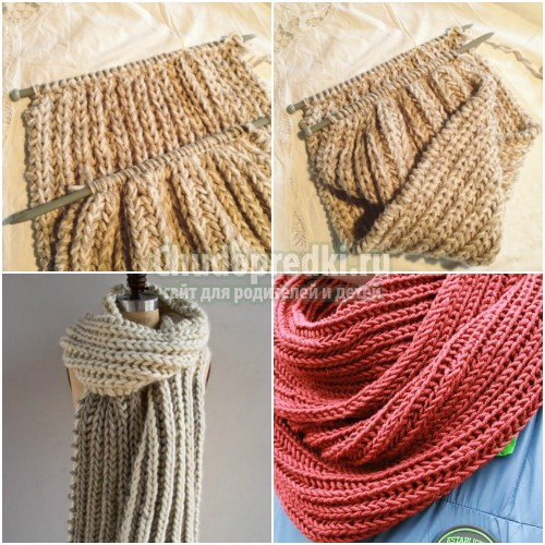 Как вязать шарф спицами. Схемы и описания
