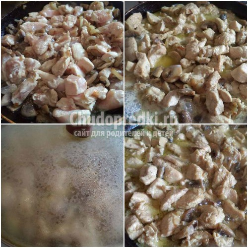Курица с грибами: золотые рецепты с фото