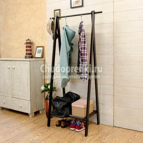Изготовление напольной вешалки для одежды