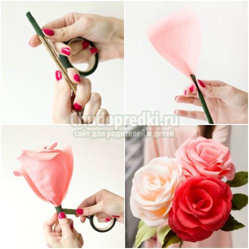 Большие цветы из бумаги своими руками: пошаговые мастер-классы