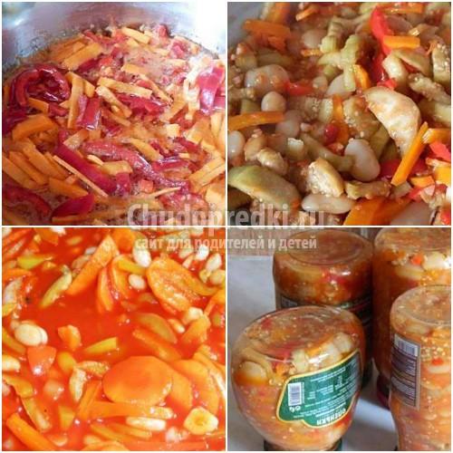Салат с фасолью на зиму: золотые  рецепты с фото