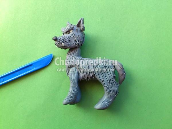 Волк из пластилина